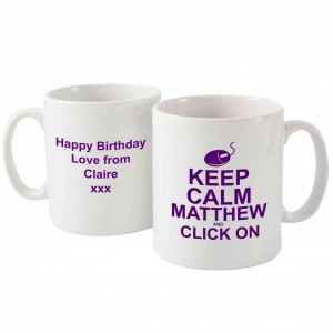 Keep Calm Click On Mug