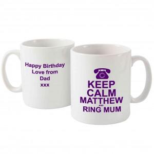 Keep Calm Ring Mum Mug