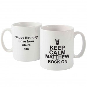 Keep Calm Rock On Mug