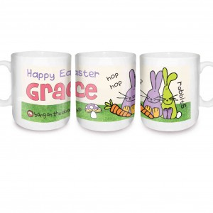 Bang on the Door Rabbit Mug