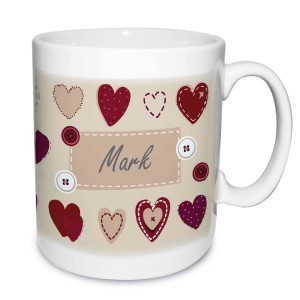 Fabric Heart Design Mug