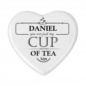 Just My Cup of Tea Heart Coaster
