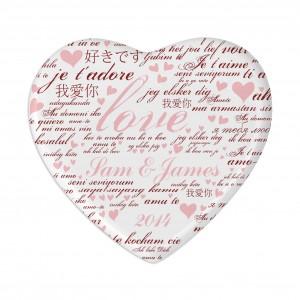 I Love You Heart Coaster