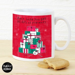 Purple Ronnie Christmas Female Gifts Mug