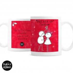 Purple Ronnie Christmas Couple Red Mug