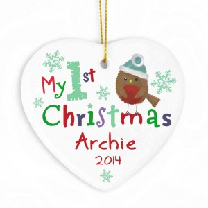 My 1st Christmas Ceramic Heart
