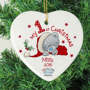 Me to You My 1st Christmas Ceramic Heart Decoration