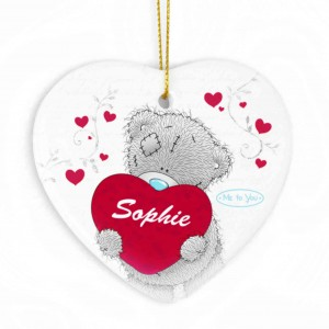Me to You Big Heart Ceramic Heart Decoration