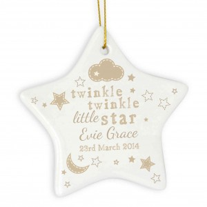 Twinkle Twinkle Ceramic Star Decoration