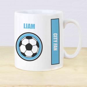 Sky Blue Football Fan Mug