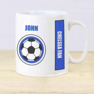 Dark Blue Football Fan Mug