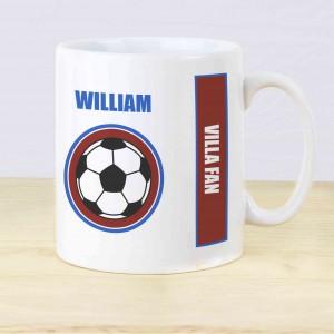 Claret and Blue Football Fan Mug