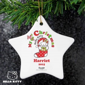 Hello Kitty My 1st Christmas Ceramic Star Decoration