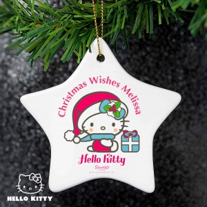 Hello Kitty Pink Christmas Ceramic Star Decoration