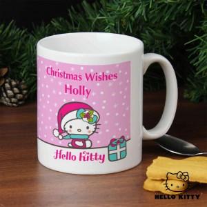 Hello Kitty Pink Christmas Mug