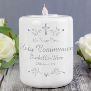 Sentiments Round Ceramic Tea Light Candle Holder