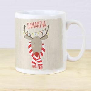Retro Reindeer Mug