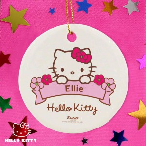 Hello Kitty Floral Round Decoration
