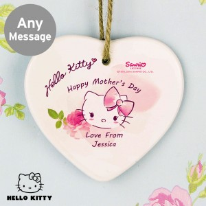 Hello Kitty Pink Blush Ceramic Heart Decoration