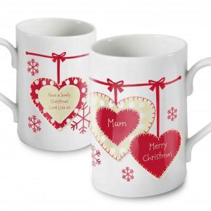 Christmas Heart Mug