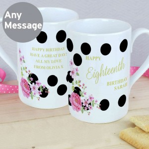 Floral Dot Windsor Mug