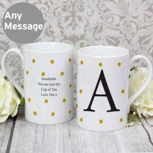 Monogram Gold Spot Windsor Mug