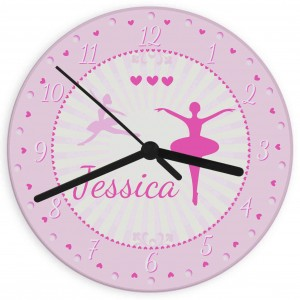 Ballerina Glass Clock