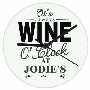 Wine OClock Clock