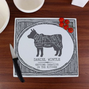 Meat Cuts Glass Chopping Board