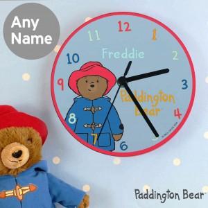 Paddington Bear Glass Clock