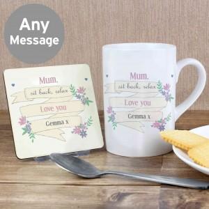 Garden Bloom Mug & Coaster Set