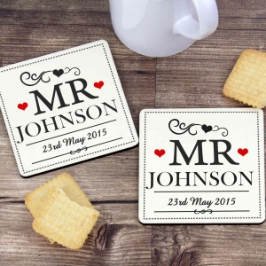 Mr & Mr Coaster Set