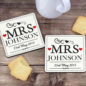 Mrs & Mrs Coaster Set