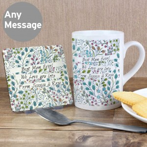 Botanical Mug & Coaster Set