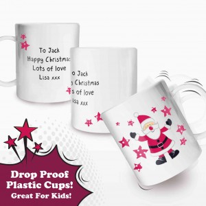 Spotty Santa Plastic Cup