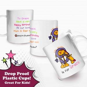 Bang On The Door Animal Alphabet Girls Plastic Cup