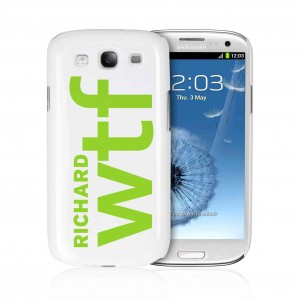 WTF Slogan Samsung S3 Case