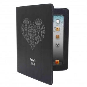 iPad Damask Heart Case