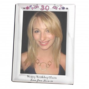 Flowers and Butterflies Age Silver 5x7 Photo Frame