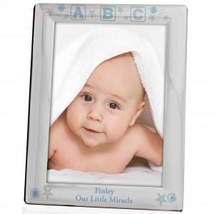 Blue ABC Silver 5x7 Photo Frame