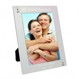 Silver 5x7 30th Wedding Anniversary Photo Frame