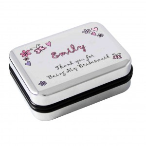 Flowers and Butterflies Necklace Box