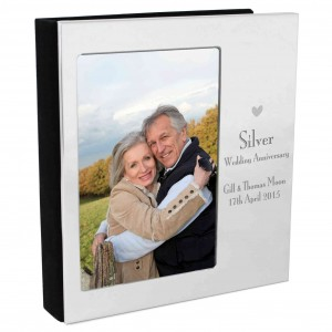 Decorative Silver Anniversary Photo Frame Album 6x4