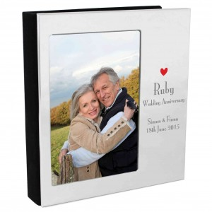 Decorative Ruby Anniversary Photo Frame Album 6x4