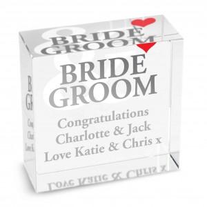 Bride & Groom Medium Crystal Token
