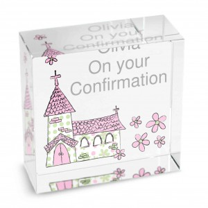 Pink Church Medium Crystal Token