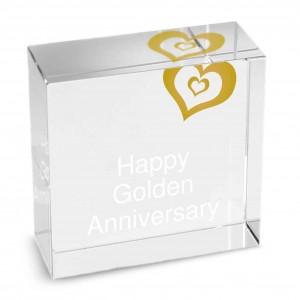 Gold Heart Medium Crystal Token