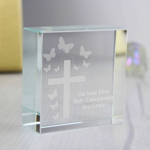 Cross & Butterfly Medium Crystal Token