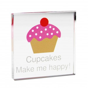 Cupcake Small Crystal Token