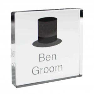 Top Hat Small Crystal Token